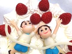 マラソン大会のデコレーションケーキ