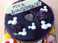 シフォンケーキのデコレーションケーキ