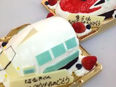 新幹線デコレーションケーキ