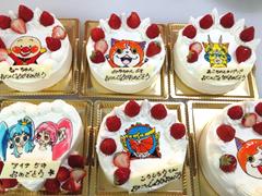 キャラクターのケーキ