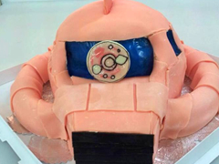 3Dケーキのガンダムのシャア