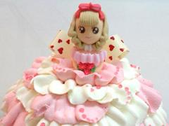 ドレスのデコレーションケーキ