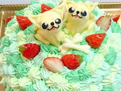 絞りデコレーションケーキ