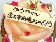 夏のフルーツでデコレーションケーキ