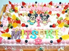 オーダーのケーキ(お誕生日)
