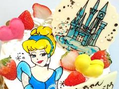 手書きデコレーションケーキ