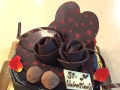 バレンタインのデコレーションケーキ