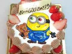 ミニオンズのデコレーションケーキ