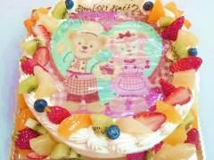 プリントタイプのデコレーションケーキ