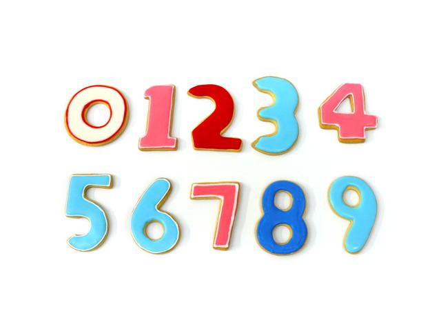 数字のアイシングクッキー